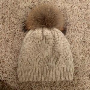 Fleece Lined Knit Pom-Pom Hat